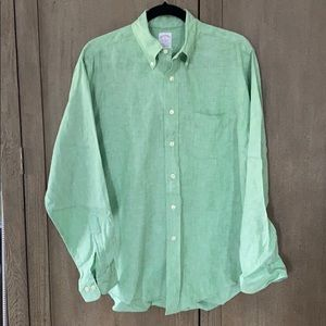 Brooks Brothers Casual Button Down Linen Shirt
